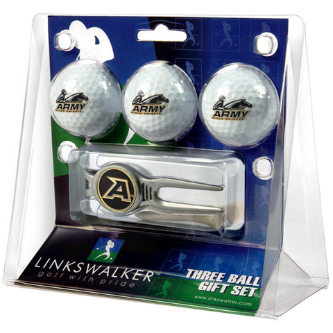 Army Black Knights NCAA 3 Ball Gift Pack w/ Kool Tool
