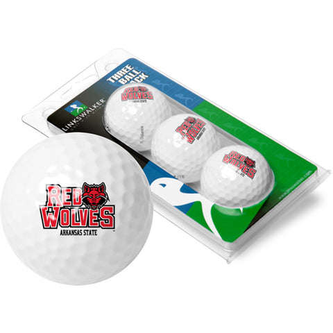 Arkansas State Red Wolves NCAA 3 Golf Ball Sleeve Pack