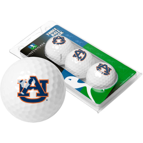 Auburn Tigers NCAA 3 Golf Ball Sleeve Pack