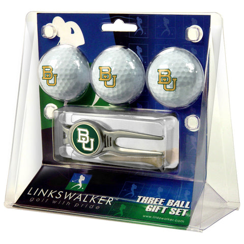 Baylor Bears NCAA 3 Ball Gift Pack w/ Kool Tool