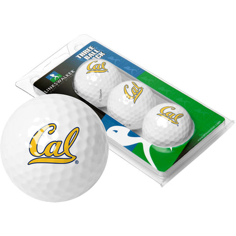 California Golden Bears NCAA 3 Golf Ball Sleeve Pack