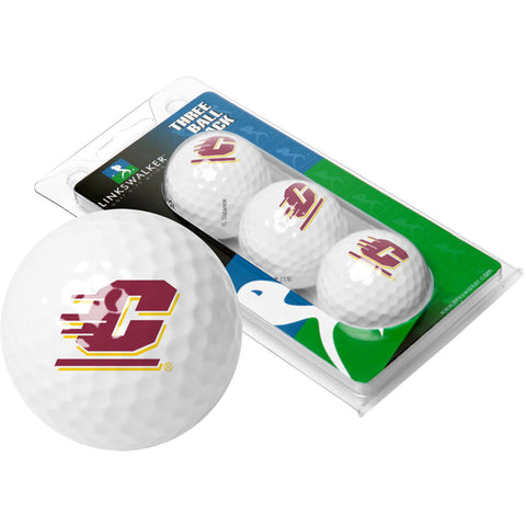 Central Michigan Chippewas NCAA 3 Golf Ball Sleeve Pack