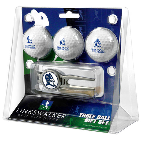 Duke Blue Devils NCAA 3 Ball Gift Pack w/ Kool Tool