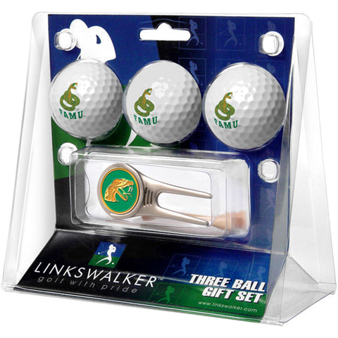 Florida A&M Rattlers NCAA 3 Ball Gift Pack w/ Cap Tool