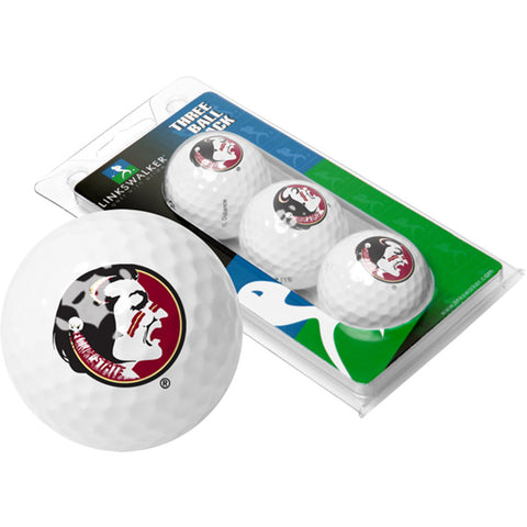 Florida State Seminoles NCAA 3 Golf Ball Sleeve Pack