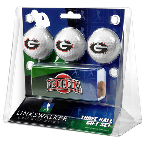 Georgia Bulldogs NCAA 3 Golf Ball Gift Pack w/ Hat Clip