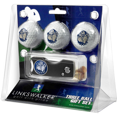 Georgetown Hoyas NCAA 3 Golf Ball Gift Pack w/ Spring Action Divot Tool