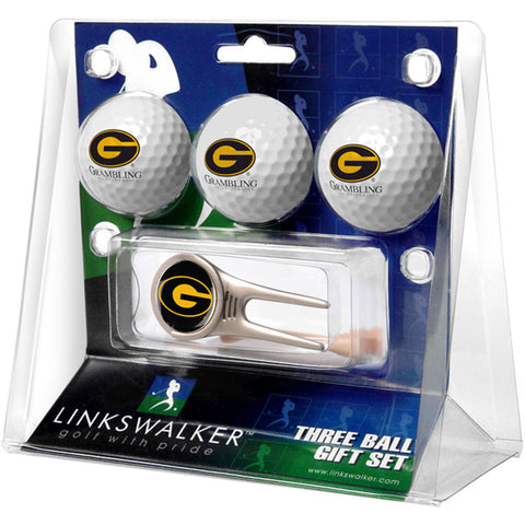 Grambling State Tigers NCAA 3 Ball Gift Pack w/ Cap Tool
