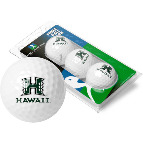 Hawaii Rainbows NCAA 3 Golf Ball Sleeve Pack
