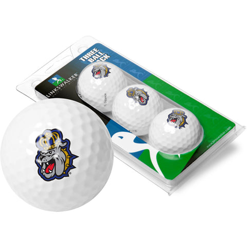 James Madison Dukes NCAA 3 Golf Ball Sleeve Pack