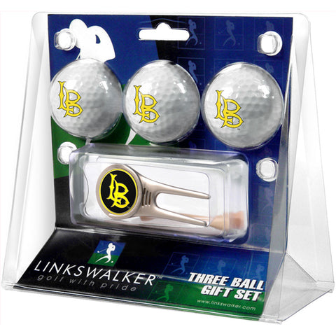 CS Long Beach 49ers NCAA 3 Ball Gift Pack w/ Cap Tool