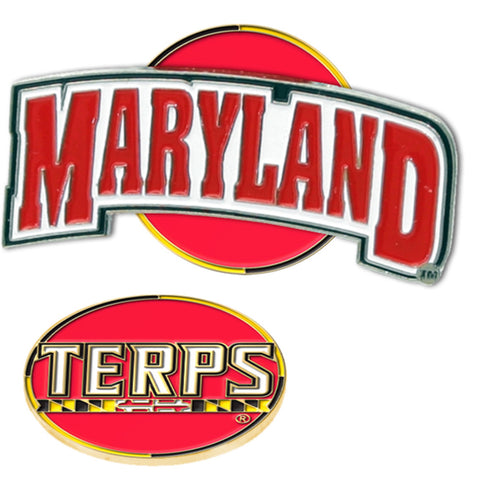 Maryland Terps NCAA Hat Clip w/ Golf Ball Marker
