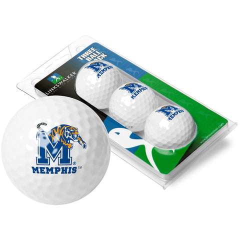 Memphis Tigers NCAA 3 Golf Ball Sleeve Pack