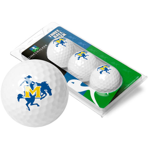 McNeese State Cowboys NCAA 3 Golf Ball Sleeve Pack