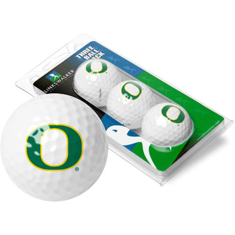Oregon Ducks NCAA 3 Golf Ball Sleeve Pack