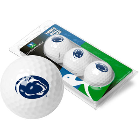 Penn State Nittany Lions NCAA 3 Golf Ball Sleeve Pack