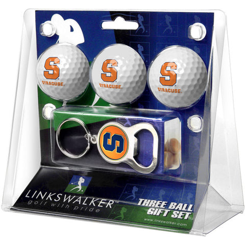 Syracuse Orangemen NCAA 3 Ball Gift Pack with Key Chain Bottle Opener