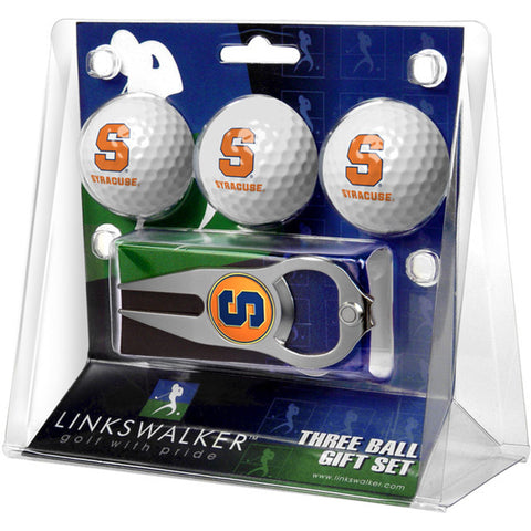 Syracuse Orangemen NCAA 3 Ball Gift Pack with Hat Trick Divot Tool