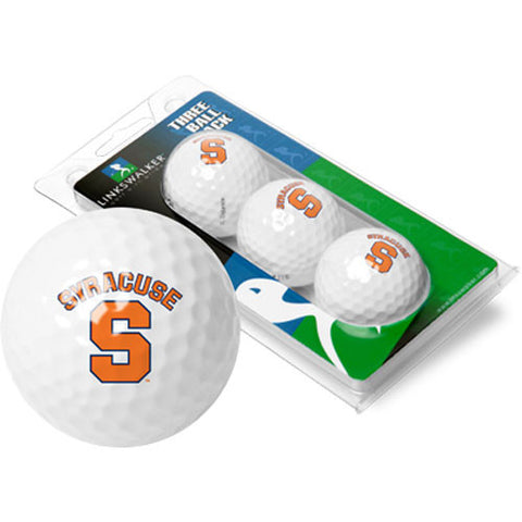 Syracuse Orangemen NCAA 3 Golf Ball Sleeve Pack