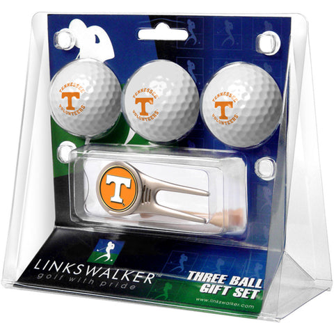 Tennessee Volunteers NCAA 3 Ball Gift Pack w/ Cap Tool