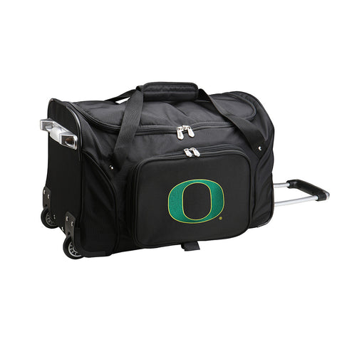 Oregon Ducks NCAA 22 inch Wheeled Duffel