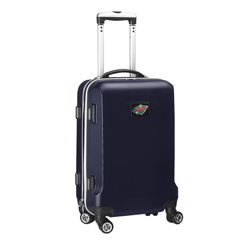 Minnesota Wild NHL Navy 20 inch Carry On Hardcase Spinner
