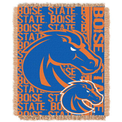 Boise State Broncos NCAA Triple Woven Jacquard Throw Double Play Series 48x60