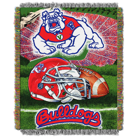 Fresno State Bulldogs NCAA Woven Tapestry Throw Home Field Advantage 48x60