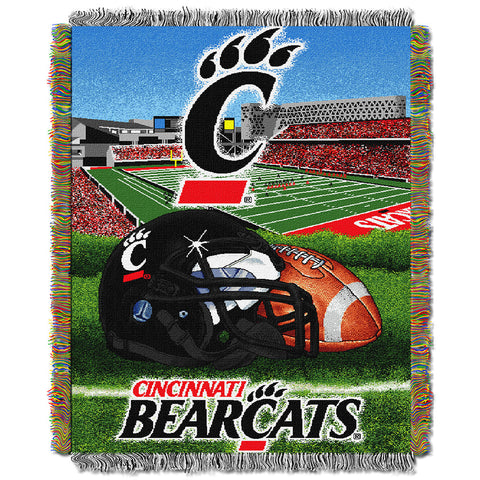 Cincinnati Bearcats NCAA Woven Tapestry Throw Home Field Advantage 48x60