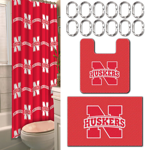Nebraska Cornhuskers NCAA 15 Piece Bath Set