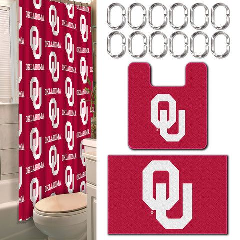Oklahoma Sooners NCAA 15 Piece Bath Set
