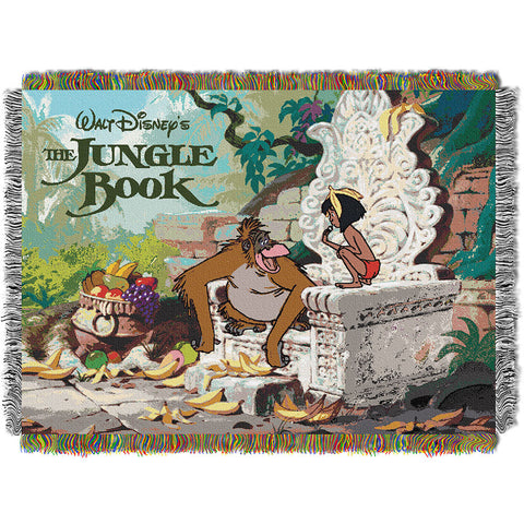 Disney Jungle Book King Louie 051 Woven Tapestry Throw Blanket 48x60