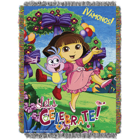 Dora Celebrate 051 Woven Tapestry Throw Blanket 48x60