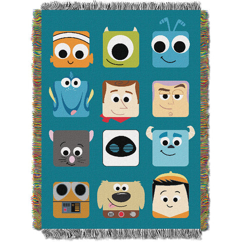Disney Pixar Pixarland 051 Woven Tapestry Throw Blanket 48x60