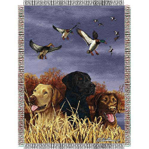 Hautman Bros. Bird Dog Triple Woven Jacquard Throw 48x60