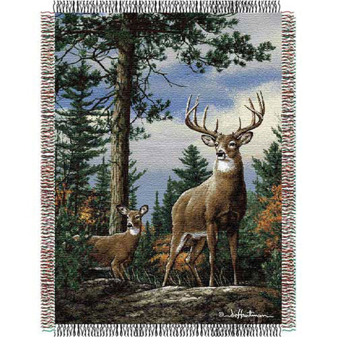 Hautman Bros. King Stag Triple Woven Jacquard Throw 48x60