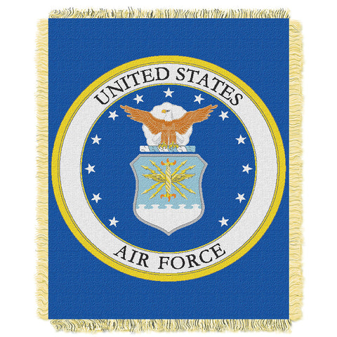 US Air Force Armed Forces Triple Woven Jacquard Throw 48x60