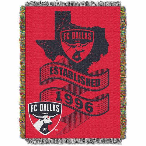 FC Dallas MLS Woven Tapestry Throw Blanket 48x60