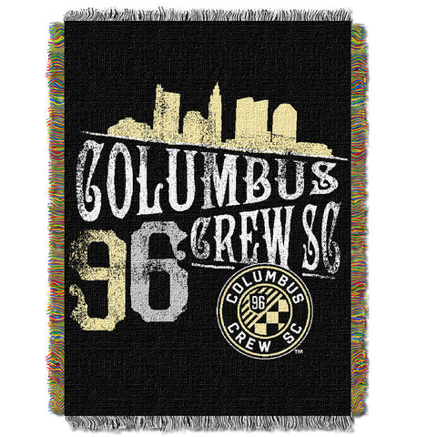 Columbus Crew MLS Woven Tapestry Throw Blanket 48x60