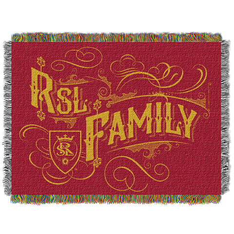 Real Salt Lake MLS Woven Tapestry Throw Blanket 48x60