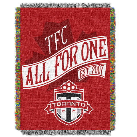 Toronto FC MLS Woven Tapestry Throw Blanket 48x60