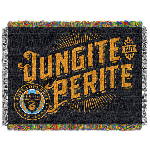 Philadelphia Union MLS Woven Tapestry Throw Blanket 48x60