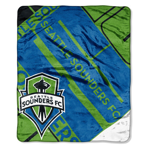 Seattle Sounders FC MLS Royal Plush Raschel Blanket 50x60