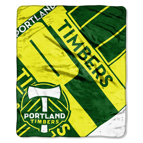 Portland Timbers MLS Royal Plush Raschel Blanket 50x60