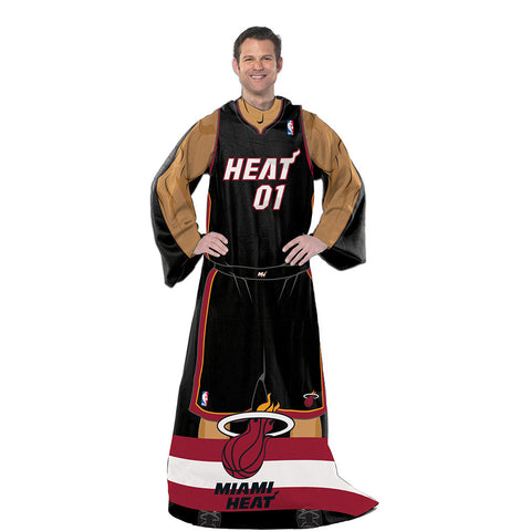 Miami Heat NBA Adult Uniform Comfy Throw Blanket w/ Sleeves