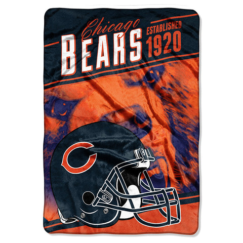 Chicago Bears NFL Stagger Oversized Micro Raschel 62in x 90in