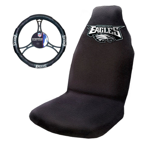 Philadelphia Eagles NFL Car Seat Cover and Steering Wheel Set