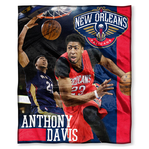 New Orleans Pelicans NBA Anthony Davis Silk Touch Throw 50in x 60in