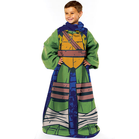 NIC TNMT Being Leo Youth Comfy Throw Blanket w/Sleeves