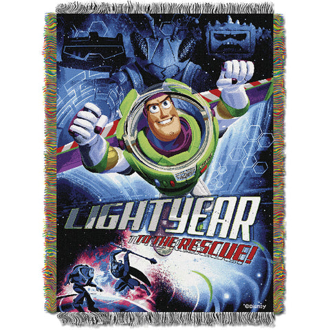 Toy Story Buzz Victorious 051 Woven Tapestry Throw Blanket 48x60